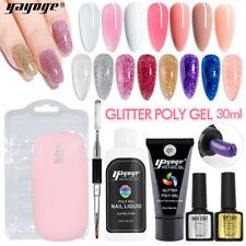 30ml Poly Gel Kit Nail Extension Set Glitter UV Gel Kits Nail Salon US SHIPPING