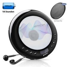 Tragbarer CD Player mit FM Transmitter Kopfhörer AKKU CD/MP3/CD-R/CD-RW für Auto