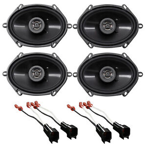 """Hifonics 6x8"""" Front+Rear Speaker Replacement For 2008-10 Ford F-250/350/450/550"""