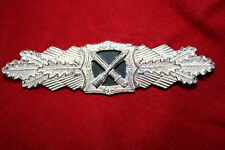 WW2 1957 GERMAN ARMY CLOSE COMBAT CLASP BREAST BADGE SILVER NOT NAZI