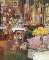 Wall Decoration Small Art Print on Canvas The Room of Flowers Childe Hassam 8x10