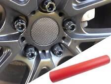 4x Llantas Aluminio Ejes Tapa Diseño Lámina Carbono Rojo para Muchos Vehículos