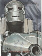RITTENHOUSE 2008 IRON MAN MOVIE COLOR SKETCH CARD BY CAT STAGGS