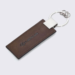 Lexus Keyring, Brown/Black Leather, Yet Collection