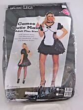 Plus Size 1X Women's Maid Dress Costume Cosplay Halloween Sexy Music Legs