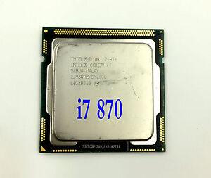 Intel Core i7 870 2.93 GHZ 8M Cache Socket 1156 SLBJG CPU Quad Core Processor