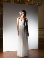 Lanvin Blanche Long White Dress Bridal Glamour Wedding Size FR 38 RRP $10,990