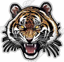 "Tiger Roar Face Cat Wild Life Animal Car Bumper Vinyl Sticker Decal 4.6""X4.6"""