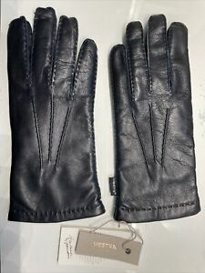 L@@K Brand New HESTRA HAIRSHEEP LAMB Leather/Wool Men's gloves Handsewn - Size 9