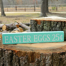 Easter Eggs Wooden Shelf Sitter - 6 Colors to Choose From! - Happy Easter