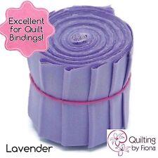 "10 x 2.25"" Lavender Purple PreCut Quilt Binding Strips, 2.25 inch x WOF, Die Cut"