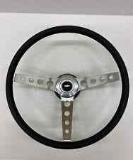 1973 1974 1975 Chevelle Comfort Grip Steering Wheel Kit Black Round Holes