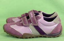 402 Geox Respira girl suede leather purple gray sneakers shoes EUC 4