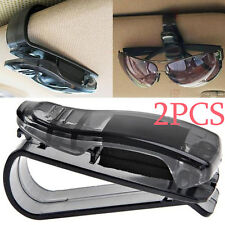 2×Car Sun Visor Glasses Sunglasses Ticket Receipt Card Clip Storage Holder Mount