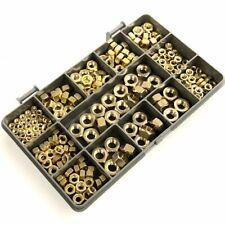 230 ASSORTED PIECE SOLID BRASS METRIC HEXAGON FULL NUTS M3 M4 M5 M6 M8 KIT