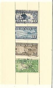 US Airmail Used Stamp Lot Scott C7 C8 C9 C10 Used plus surprise bonus