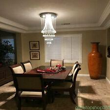 K9 Modern Crystal Pendant Light Rain Drop LED Ceiling Lamp Chandelier Stainless