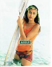 PUBLICITE ADVERTISING 116  2004  Aigle vetements pour la planète  Polynésie déba