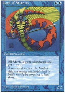 FBB Korean Lord of Atlantis ~ Moderately Played 4th Edition Fourth Foreign Black