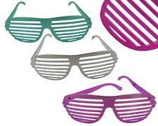 24x Partybrille Atzenbrille Metallic Shutter Shades Party Gitter Brille Karneval