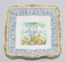 Royal Albert Silver Birch Square Candy/ Mint Dish. (England)