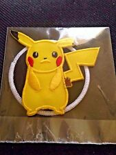 Pokemon Go Pikachu Logo Patch Iron On Sew On Shirt Jacket Bag Hoodie Collect