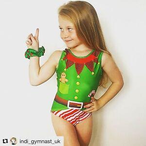 Amazing Elf Christmas leotard - Girls Gymnastics