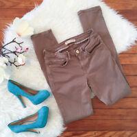ZARA Women's Sz 4 Skinny Dark Beige Jeans Stretch Mid Rise W29 L30