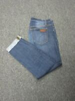 JOE'S JEANS Blue Cuffed Dark Wash Straight Leg 5 Pocket Crop Jean Sz 28 EE4164