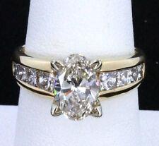 14k YG 2.61 TCW Oval Brilliant Diamond Engagement Ring VS2-SI1 Sz 7.5 EGL Cert.