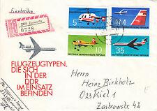 DDR Ersttagsbrief Flugzeugtypen in der DDR im Einsatz 1972 Einschreiben