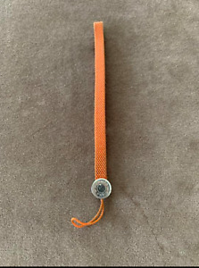 Hermes Phone Strap Charm Key Chain Silvertone Metal Free Shipping fr Japan