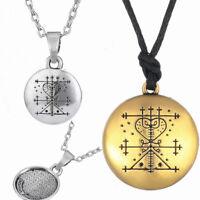 Maman Brigitte Voodoo Loa Veve Pendant Money Talisman Wealth Amulet Men Necklace