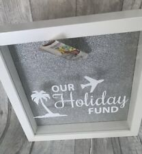 Our HOLIDAY Fund MONEY BOX Frame, Present Gift, Love, Adventure, Travel, Saving