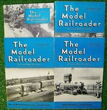 Vintage Lot (60) The Model Railroader Train Magazines 1939 to 1947 - Excellent