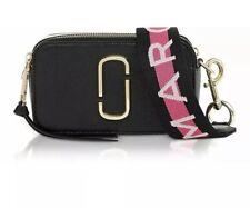 BNWT Marc Jacobs Logo Strap Snapshot Small Camera Black And Grey Cross Body Bag