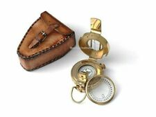 Solid Brass Prismatic Compass with Leather Case