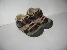 STRIDE RITE JULIEN BABY TODDLER BOYS SHOES SANDALS size 6 M BROWN GREEN LEATHER