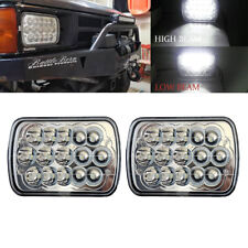 "Pair 7x6"" Inch  LED  Headlights High/low Beam 6000k 45w FOR  Pickup DOT Approved"