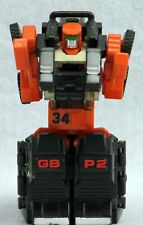 Gobots Spoons Transformer Forklift MR-34 with Grungy Power Warrior Suit GB P2
