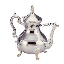 Brass Moroccan Teapot Coffee Kettle Silver Pitchers 850 ML - Free Shipping
