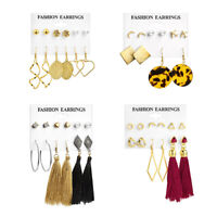 5Pairs Fashion Minimalist Punk Tiny Jewelry Moon Earrings Set Hoop Star Ear Stud