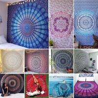 Indische Mandala-Wand-hängende Wurf-Bett-Abdeckung Baumwollteppich Wohnkultur