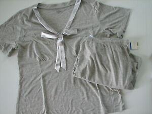 NWT Jones New York Gray Jersey Knit Pajama Set Lounge Pants Sleep XL