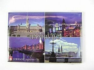Hamburg Highlights Germany Photo Magnet, Germany Souvenir, 8 CM, New