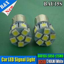 1x 6V bau15s 12 SMD LED Car Light Brake/Turn/Tail /Reverse Bulb