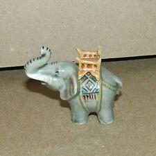 Small Miniature Decorative Porcelain Elephant Figurine