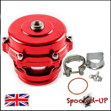 50MM UNIVERSAL RED TURBO SUPER CHARGED ALLOY V-BAND BLOW OFF DUMP VALVE BOV
