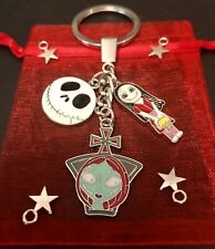 The Nightmare Before Christmas SALLY JACK Pendant CHARM Gothic KEYCHAIN Keyring