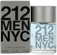 212 Men NYC By Carolina Herrera For Men After Shave Lotion Splash 3.4oz New